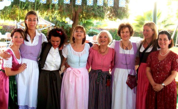 Traditionally Dressed Bavarian Women of Adana