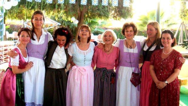 Traditionally Dressed Bavarian Women of Adana